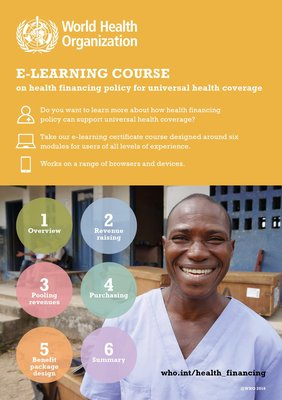 E-learning on health financing for UHC
