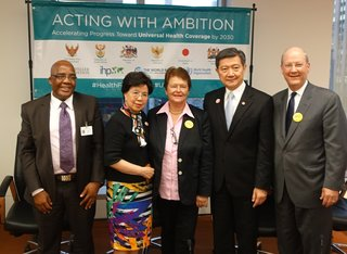 Margaret Chan announces the International Health Partnership for UHC 2030